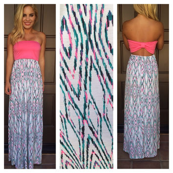 Eye Rule the World Maxi Dress - HOT PINK