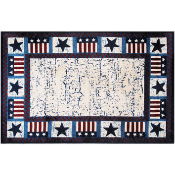Fun Rugs Supreme Collection Stars & Flags Area Rug
