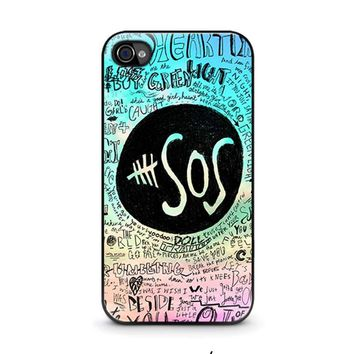 5 SECONDS OF SUMMER 3 5SOS iPhone 4 / 4S Case Cover