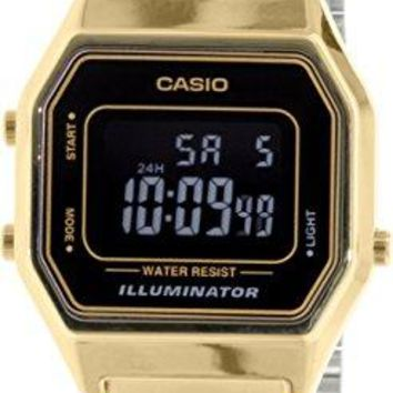 Casio Ladies LA680WGA-1B Gold Metal Quartz Watch