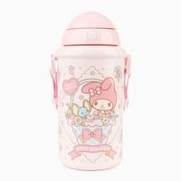 My Melody Pop-Up Straw Bottle: Blooms
