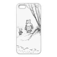 iPhone 5S Case, iPhone 5 Case, Winnie the Pooh TPU Fashion Case for iPhone 5S and iPhone 5 Cover Screen Protector
