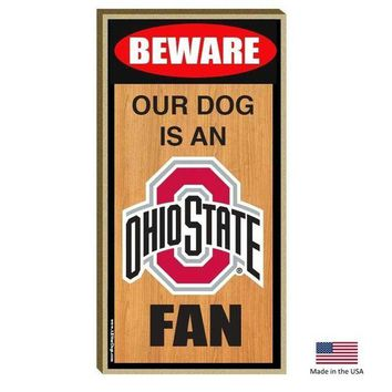DCCKT9W Ohio State Buckeyes Wood Sign