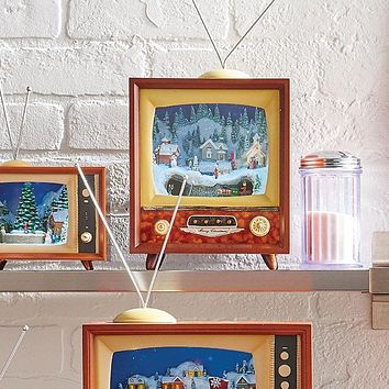 Animated Holiday Musical Retro Television TV -- 15-in