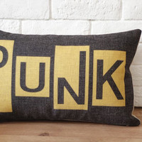 Throw Pillow Cover /PUNK Style Design Decorative by soul8soul