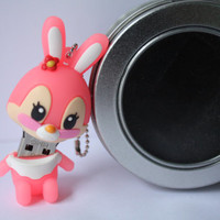 SALE30-70%OFF: 4GB Usb Super Cute Pink Bunny rabbit usb Flash Drive 4Gb , Cute Usb Flash Drive , Accessories , usb, Kawaii usb