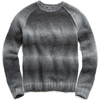 Ombre Raglan Crew in Grey