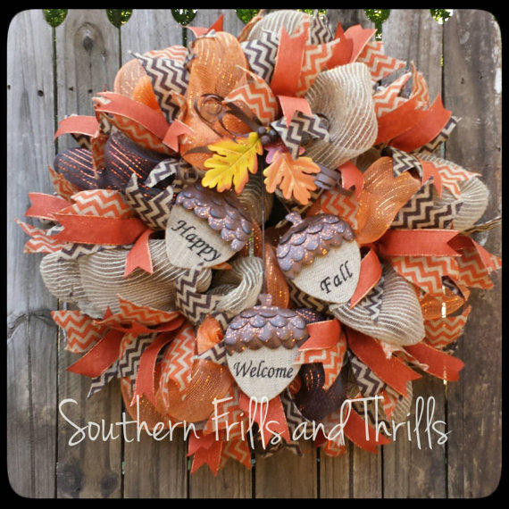 Fall Deco Mesh Wreath Autum From SouthernThrills On