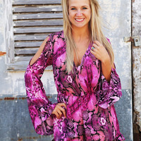 Out Of Sight Romper {Purple/Pink}