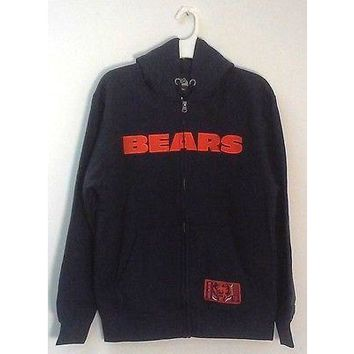 Men's New NFL Big Man Sherpa Hoodie Sweater Jacket Chicago Style 327 Washington