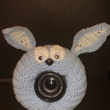 Camera Cover, Photographer Equipment, Photographer Accessory, Colorful Camera Cover, Crochet Owl, Crochet Rabbit