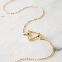 Trinity Triangle Necklace