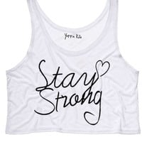 Stay Strong Crop Tank Top