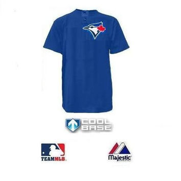 Toronto Blue Jays (YOUTH MEDIUM) Cool Base Moisture Management Two-Button MLB Officially Licensed Majestic Major League Baseball Replica Jersey