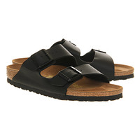 Birkenstock Arizona Two Strap Sandals Black Birko Flor - Sandals