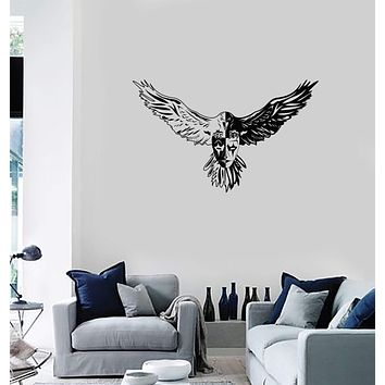 Vinyl Wall Decal Eagle Bird Theatrical Mask Gothic Room Art Interior Stickers Mural (ig5905)