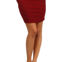 Pocket Mini Skirt - Red