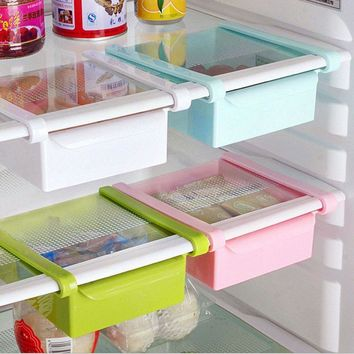 Kitchen Fridge Space Saver Storage Slide Under Shelf Rack Organizer Holder