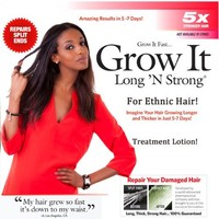 Want Longer Hair? Want Stronger Hair? Helps Grow Hair Fast! Buy Long 'N Strong® Treatment Lotion for Longer, Thicker Hair! - Split End Repair - Split End Treatment! For All Ethnic Hair Types!!