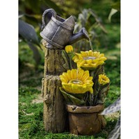 Sunflower and Water Can Fountain - Walmart.com