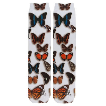 Butterfly Pattern Sublimated Socks