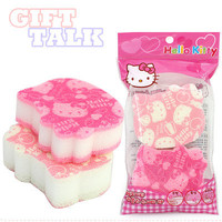 Hello Kitty Face Shape Kitchen Scouring Sponge 2pc Set Officially Licensed