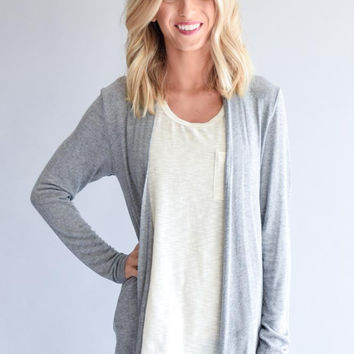 Hacci Gray Cardigan