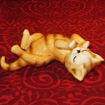 "Danbury Mint Cats Of Character - ""Cat Nap"" - Fine Bone China Figurine - Vintage Collectible"