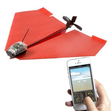 Smartphone Controlled Motorized Paper Plane by PowerUp