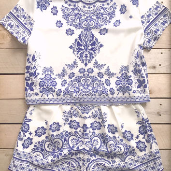 Greek Isle Romper Set