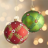 Floral Vine Ball Ornaments