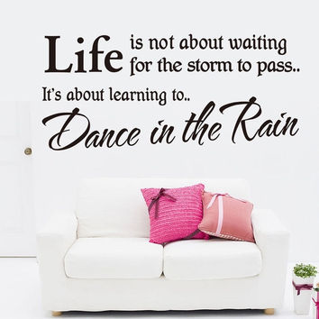 Hot Fashion Dance In The Rain Removable Waterproof Vinyl Wall Sticker Decor Art [7956039367]