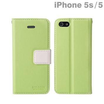 Solozen Hit iPhone 5/iPhone 5s Diary Case (Green/White)