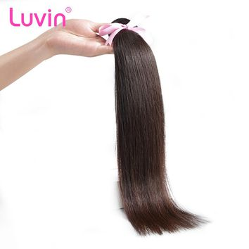 Luvin Brazilian Hair Bundle Straight 100% Human Hair Weave Natural Color Remy Hair Weft Free Shipping