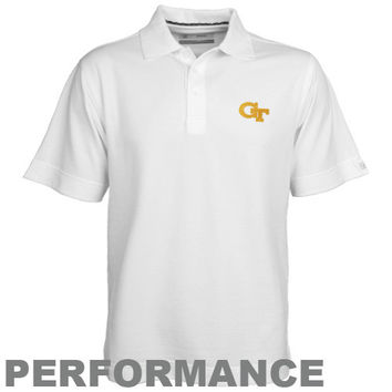 Cutter & Buck Georgia Tech Yellow Jackets White DryTec Championship Polo