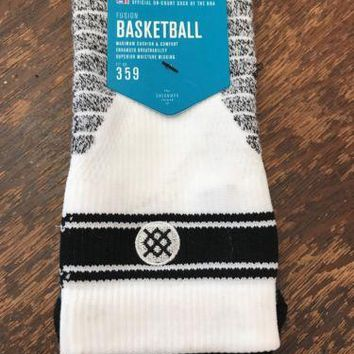 Stance Fusion Basketball 359 NWT QTR Bold stripe Socks X-Large (13-16) NBA