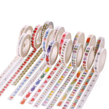 8mm*10m Decorative Washi Tape Diy Handicraft Accessories Deafting Adhesive Tape Photo Album Decorative Scotch Tape Kawaii