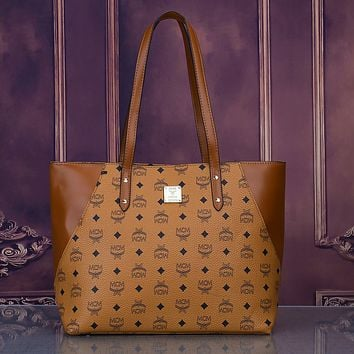 MCM Women Fashion Leather Handbag Shoulder Bag Satchel