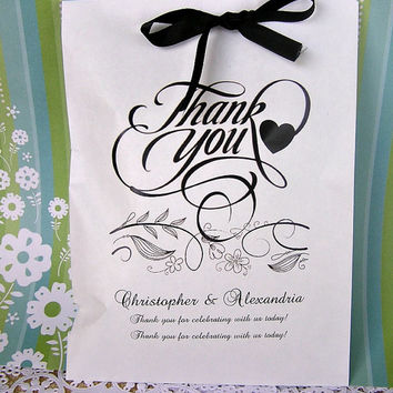 Wedding Favor Bags w/Ribbon - Party Supplies - Birthday Favor Bags - Goodie Bags  DIY061