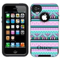 Otterbox Commuter Aztec Andes Mauve and Teal Pattern Case for Apple iPhone 4