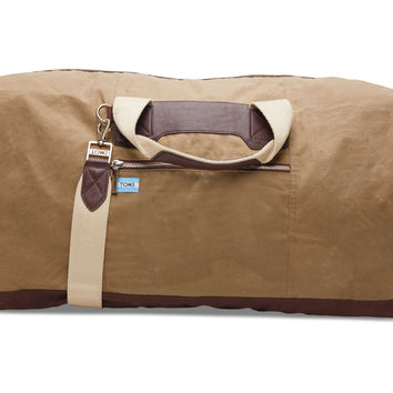 TOMS Large Olive Wax Canvas Trekker Duffel