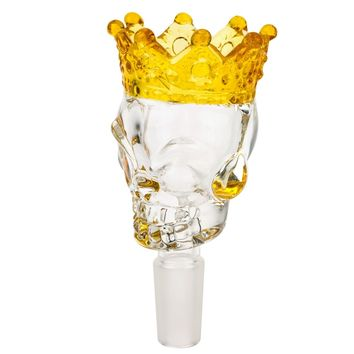 Glass Skull Bowl with Crown | Clear | Grasscity