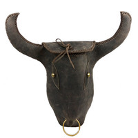 Handmade Cow Head Backpack | Vintage Cow Leather Bag