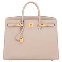 Hermes Gris Tourterelle 40cm Togo Birkin Bag Gold Hardware Superb