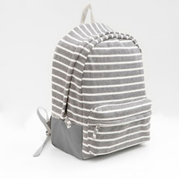 Striped Fleece Backpack