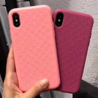 GUCCI Fashion New More Letter Silicone Case Mobile Phone Case Soft Shell