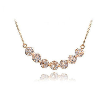 Shiny New Arrival Gift Stylish Hollow Out Jewelry Crystal Necklace [9281916804]