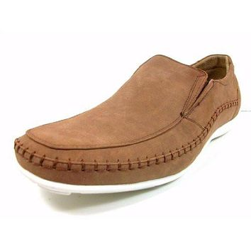 Delli Aldo Men's 30105-Brown Casual Slip On Driving Moccasins