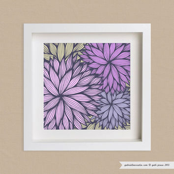 Art Print 12 x 12 - Purple Dahlia