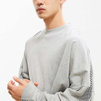 UO Side Stripe Drop Shoulder Long Sleeve Tee | Urban Outfitters